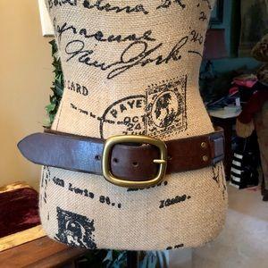 LUCKY BRAND 🍀 Men's brown belt & solid brass